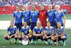 Team USA pose for a team picture before the Group D match between United States of America and Sweden of the FIFA Women's World Cup 2015 at Winnipeg Stadium on June 12, 2015 in Winnipeg, Canada.