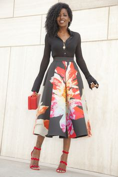 Tea skirts and very long a-line skirts need o be paired with specific items to pull off a great look.