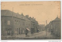 CPA 62 HENIN LIETARD La Rue Bonsecours Commerce Chaussures Maison CAVELLE - France