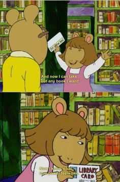 why i love my library card. and arthur.