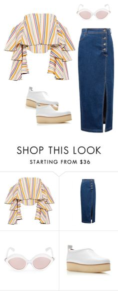 """""""***"""" by nadia-van-niekerk ❤ liked on Polyvore featuring Caroline Constas, WithChic, RetroSuperFuture and Rosetta Getty"""