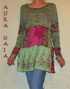 AuraGaia ~Queen~ Poorgirl Upcycled Layering Tunic Dress S-1X Vive La Reyne