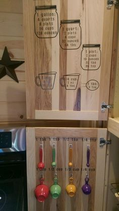 Jar Measurements Decals Labels Decal Kitchen Cabinet Door