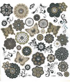 Tarra-Arkki, ruskeansävyiset kukat & perhoset