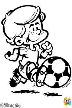 The Soccer coloring pages called kid playing soccer to coloring. This kid is a great athlete, and he is in the playground playing soccer with his classmates. If you also like playing football with friends, have fun coloring this drawing now Vector Graphics, Vector Free, Sports Clips, Free Cartoons, Soccer Players, Disney Art, Coloring Pages, Art Drawings, Kids Room