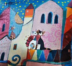 """""""Cats on Roofs"""" par Rosina Wachtmeister"""