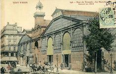 Rue du Temple. Le marché. 1904.