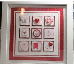 Do you love this framed art?  You can come and make this at a class!  Get the info here:http://www.ruthlessstamping.com/ruthless_stamping/2014/01/valentines-framed-art.html