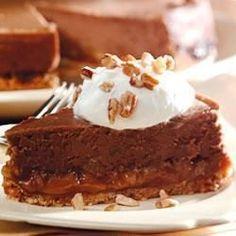 Cheesecake de chocolate y crema de caramelo @ allrecipes.com.ar