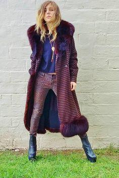 coolest argyle wool pimp coat long walking by AlexAndAftonVintedge