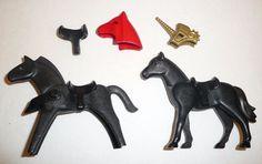 Playmobil Horse Lot - 2 Horse Figures + Saddles, Unicorn Mask, + More #PLAYMOBIL