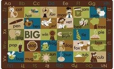 Anytime is a good time to purchase the Rhyme TIme Rug. You can bring the educational element and seating for your students all in this rug. Perfect for back to school #backtoschool #classroomrug http://www.sensoryedge.com/rhyme-time-classroom-rug-nature-colors-.html