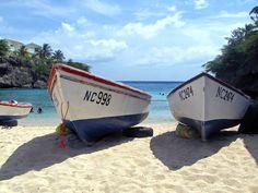 de vissersboten op Lagun @ Curacao