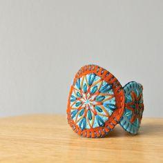 Penny Wool Felt Bracelet Wristband Cuff // by LoftFullOfGoodies, $26.00