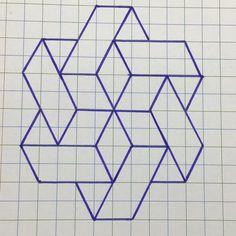 Graph Paper Drawings, Graph Paper Art, Pencil Art Drawings, Barn Quilt Designs, Barn Quilt Patterns, Quilting Designs, Geometric Drawing, Geometric Art, Geometric Patterns