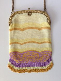 c1920 Bead knit purse from Lori Blaser's collection
