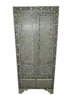 Antique Armoire Ivory Black Bone Inlay Carved Indian Furniture by Mogul Interior, http://www.amazon.com/dp/B00CHYEXV4/ref=cm_sw_r_pi_dp_6LiErb0V1X318