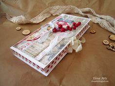 """Elena Arts: Tutorial de una caja de chocolate """"Caja roja"""" #scrapbooking #tutorial #elenaarts #caja #cajadechocolate #scrap  #todostencil"""