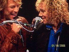 Jon and David...my two men. #bonjovi #davidbryan