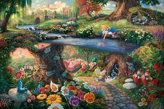 "Thomas Kinkade ""Alice in Wonderland"""