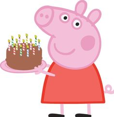 peppa pig Peppa holding your childs birthday cake! Perfect for invitations! Peppa holding your childs birthday cake! Perfect for invitations! Fiestas Peppa Pig, Cumple Peppa Pig, Peppa Pig Pictures, Peppa Pig Wallpaper, Peppa Big, Aniversario Peppa Pig, Peppa Pig Birthday Cake, George Pig, Pig Party