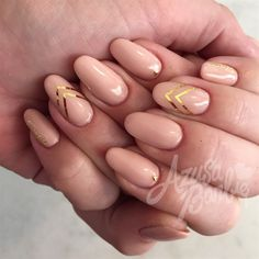 Gold Tape Chevron by azusa from Nail Art Gallery