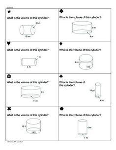 Printables Volume Of Cylinders Worksheet volume and surface area worksheets the of cylinders cones spheres sum em activity