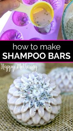 If you've seen solid shampoo bar brands at the salon or Lush, you may be thinking of switching to zero waste hair care products. Learn the benefits of, how to make your own Diy Shampoo, How To Make Shampoo, Lush Shampoo Bar, Homemade Shampoo, Solid Shampoo, Natural Shampoo, Natural Soaps, Natural Haircare, Homemade Beauty Recipes