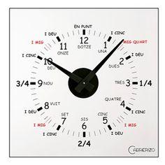 Recordatori - Rellotge amb l'hora en català.