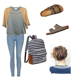 """""""An Outfit I Would Wear"""" by brooklyn-adair-styles on Polyvore featuring Topshop, 3.1 Phillip Lim and Birkenstock"""