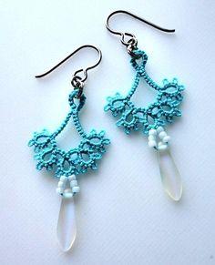 Tatted Floret earrings by Marilee Rockley