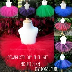ADULT Make a Tutu Kit No Sew Choose Your Colors $25.00 @Cheryl Greenway @Laura Greenway