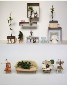 The tiny, lovely little world of Duesseldorf based artist Sabine Timm.