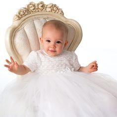 Sarah Louise - Baby Girls Ivory Ceremony Gown & Bonnet   Childrensalon