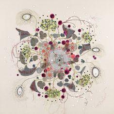 Уникальные работы Louise Gardiner: необычное сочетание машинной вышивки, аппликаций и красок - Ярмарка Мастеров - ручная работа, handmade