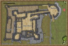 Home decor Medieval castle. Medieval and Middle Ages History Timelines - Parts a castle. Castle Wall, Castle House, Medieval Life, Medieval Fantasy, Medieval Castle Layout, Castle Floor Plan, Middle Ages History, Castle Parts, Fantasy Map