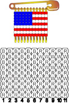 After I made over 200 of the USA Flag pins. I gave them to all my loved family and friends, Safety Pin Crafts, Safety Pin Jewelry, Safety Pins, Beaded Crafts, Jewelry Crafts, Summer Crafts, Holiday Crafts, Flag Pins, Blue Crafts
