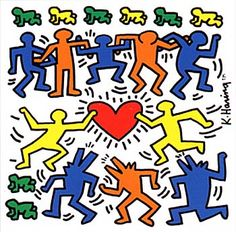 Keith Haring first made his mark by drawing within New York's bustling transit system. The late Pop artist of the would've celebrated what would have been his birthday on May Jean Michel Basquiat, Jasper Johns, Jackson Pollock, Keith Haring Heart, Keith Allen, Pop Art, Haring Art, Josef Albers, Art Original