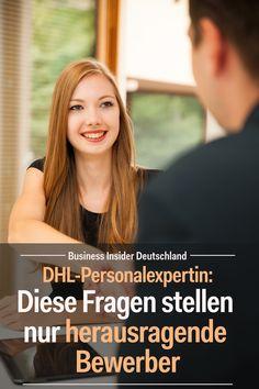 Gute Bewerber beantworten nicht nur Fragen, sondern stellen selbst welche. Eine DHL-Personalexperting verrät, wie ihr mit euren Fragen glänzen könnt. Artikel: BI Deutschland Foto: Shutterstock/BI #karriere #bewerbung