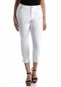 Jessica Simpson  Plus Size Forever Rollcuff Denim Crop Jean