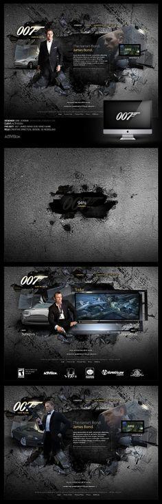 007: James Bond 2010 Website Pitch - Designed By Eric Jordan (www.ericjordan.com) #webdesign #graphic #design