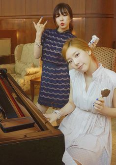 Taeyeon and Tiffany