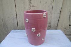 Carved Cherry Blossom Vase  Handmade by alinahayesceramics on Etsy