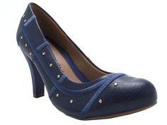 Mônica Shop - Feminino / Sapatos / Salto Alto / Azaleia 193/712 Sapato/Scarpin Salto Alto - Azul - Azaleia