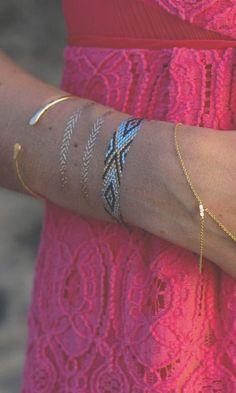 Temporary tattoo bracelets! A fun idea for a night out :-)