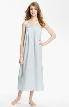 Eileen West Sleeveless Ballet Nightgown available at #Nordstrom - medium in blue.