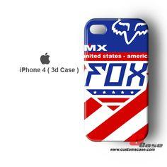 America FOX Racing 3D iPhone 4 Case
