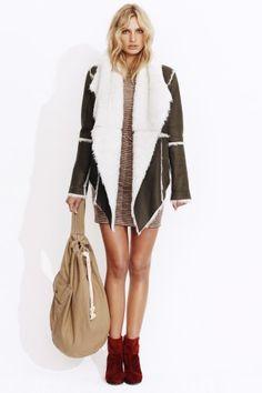 Talulah @ The Dreamery Lovers Road Jacket $399  http://www.the-dreamery.com/Wardrobe/Jackets/Lovers-Road-Fleece-Jacket-Tan-PRE-ORDER