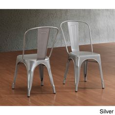 Tabouret Bistro Steel Side Chairs (Set of 2) | Overstock.com Shopping - Great Deals on Dining Chairs