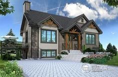 The Cap 2 Modern rustic home style, 1 to 4 bedrooms, finished walkout basement, large deck, central fireplace - W2131-V1